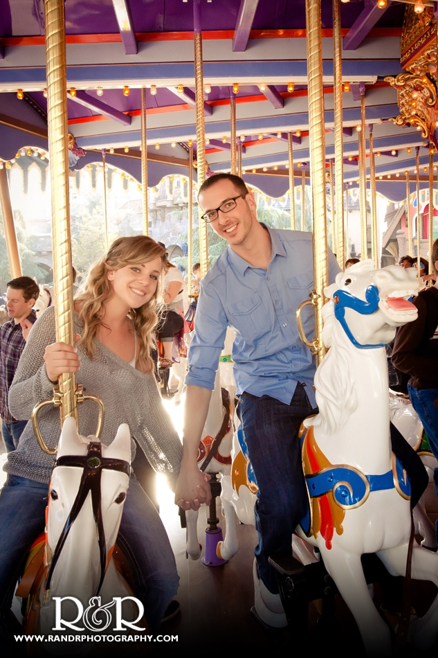 Hillary&Anthony_Carrousel of Love at Disneyland