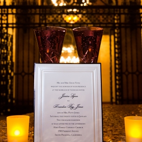 Invitation & Toasting Glasses