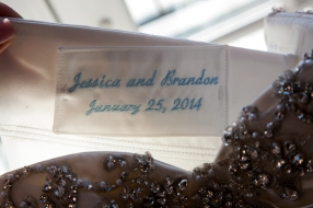 Personalized Label Inside Wedding Dress