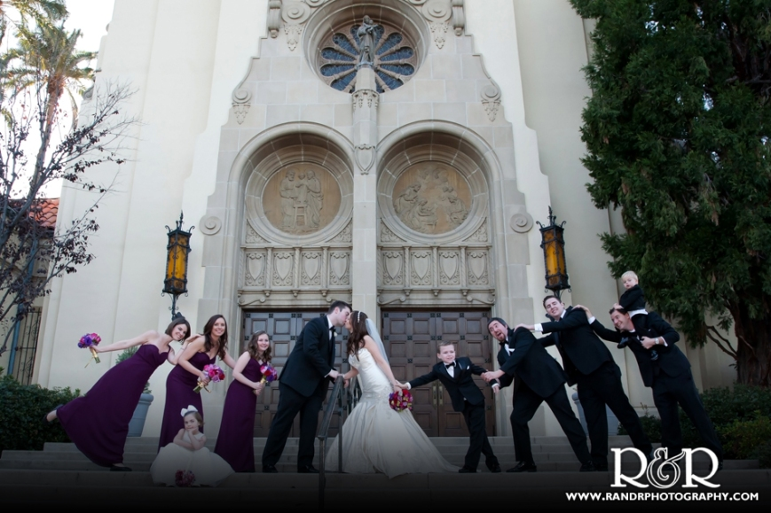Joly Family Church-Pasadena-Bridal Party